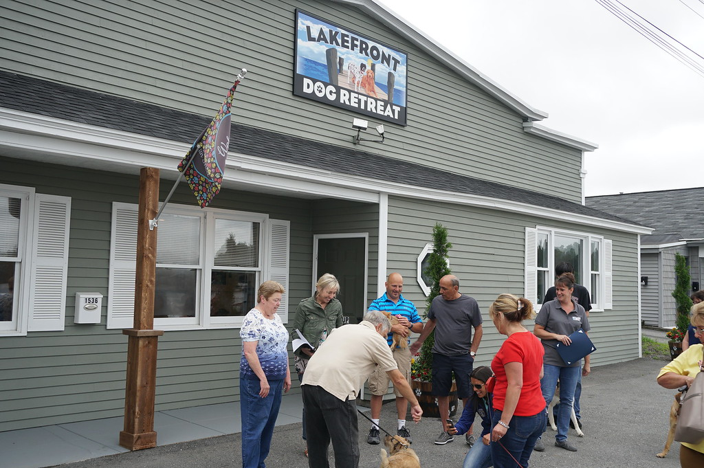 . The Lakefront Dog Retreat, which celebrated its grand opening in Leominster on Friday.