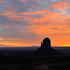 Sunrise, The Mittens and Merrick Buttes.