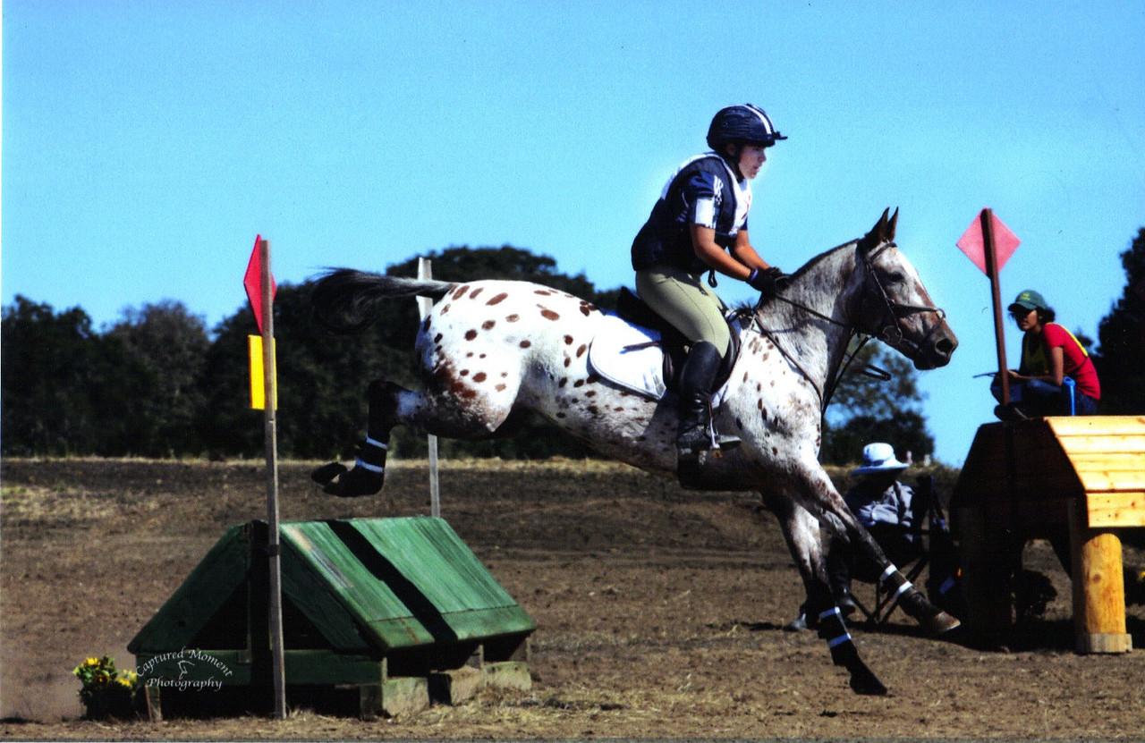Kyana Sazegari in the saddle.