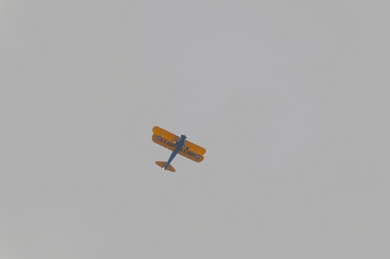 While watching the hawk I was able to reach out with my zoom lens to capture this old military plane.
