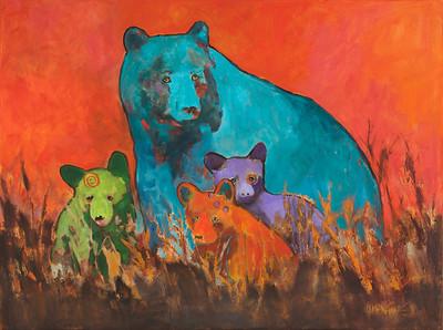 Mama Blue Bear