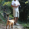 Bibi with my husband on an easy hike to Nam Shan