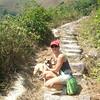That was a very hard hike to Lantau Peak. Bibi was always at the lead.