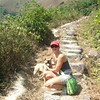 That was a very hard hike to Lantau Peak. Bibi was always at the lead.
