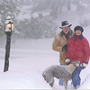 our christmas card in Dec 2003, taken during the Jan blizzard with a self-timer on the camera