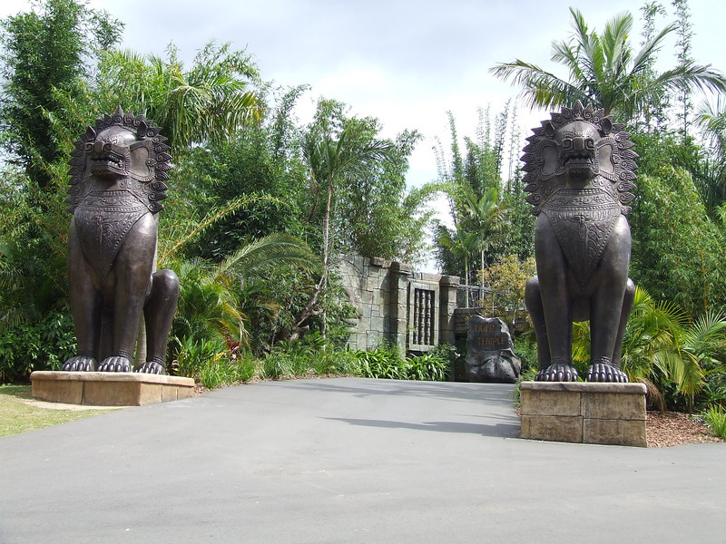 Tiger temple at Steve Irwins Australia zoo. It is based on native Cambodian temples.