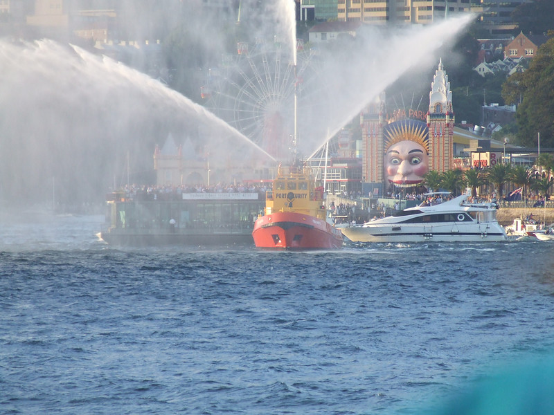 Fire tug operated by the sydney port authority