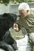 The Owner Dean Oswald getting some SUgar from one of his big Black Bears @ Oswalds Bear Ranch