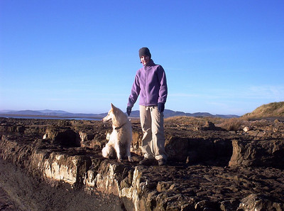 Spring 2007. Enjoying a fine day on the Solway coast.