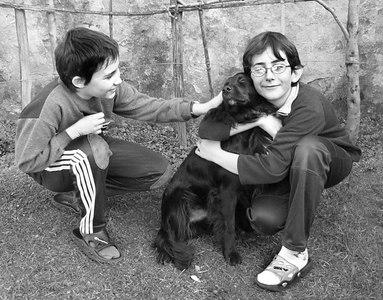 Giorgione con Mirco e Sergio - inverno 2005