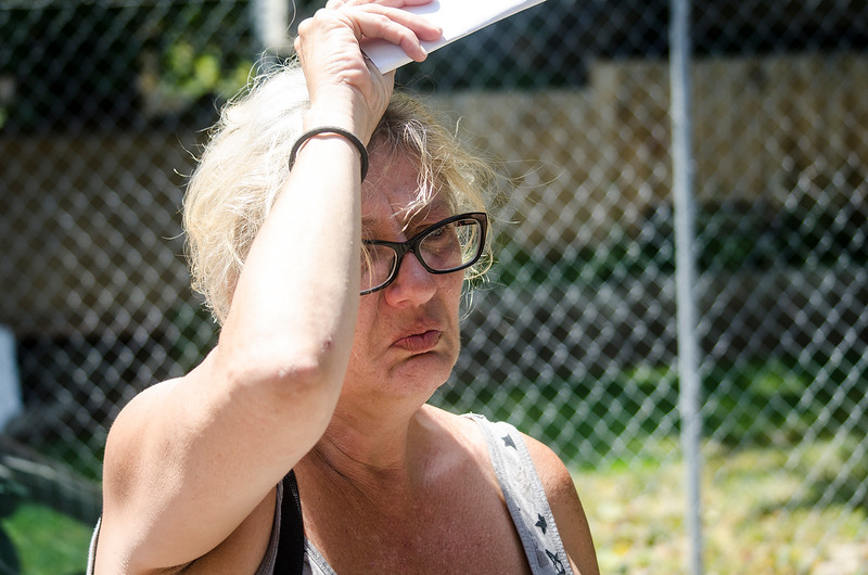 Linda Egan's pitbull has been staying with a friend as she finds new living arrangements. The dog has now attacked tenants twice in the past three days. SENTINEL & ENTERPRISE / Ashley Green