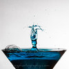 Blue Martini Glass