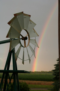 Rainbow at the family farm.
