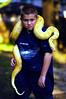 Kevin and Albino Burmese Python