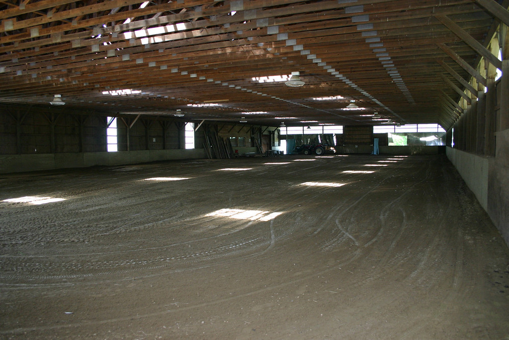 The indoor ring, 200' x 80' with new footing.