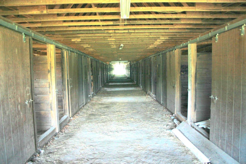 The second barn, with capacity for about 50 horses.  It is being fixed up.
