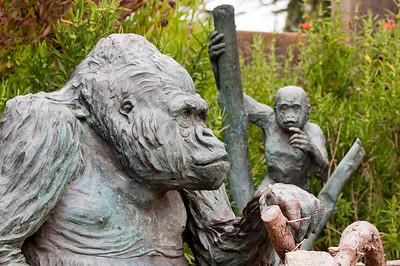 Statue outside of the gorilla exhibit.
