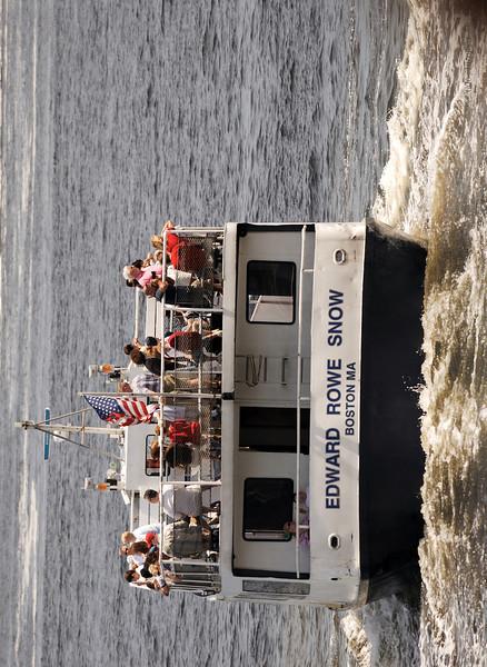 Tour boat.