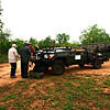 Our game drive vehicle.  A Toyota Land Cruiser, slightly modified.