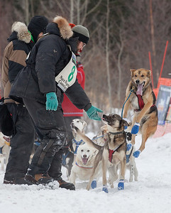 SLED DOGS 9849  Odin Jorgenson - Grand Marais, MN - Stage One Start in Grand Portage  2014 Gichigami Express Sled Dog Race - Cook County, MN