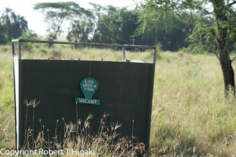After having a traditional English breakfast( yes in the middle of the Serengeti), you can use an un- traditional loo.