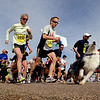 "The run part of the Canine Classic begins. Eric Schwartz (1622), center, and his dog Blue, won for the seventh time in a row.<br /> The annual Canine Classic race and carnival was held at the Boulder Reservoir on Sunday.<br /> For more photos and a video, go to  <a href=""http://www.dailycamera.com"">http://www.dailycamera.com</a>.<br /> Cliff Grassmick / April 18, 2010"