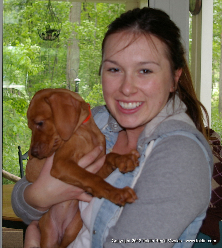 Maxine Binder and her Toldin's Red Hot Cayenne  - Caynne or Kai for short, Miss Orange. Going to Windsor, not too far...