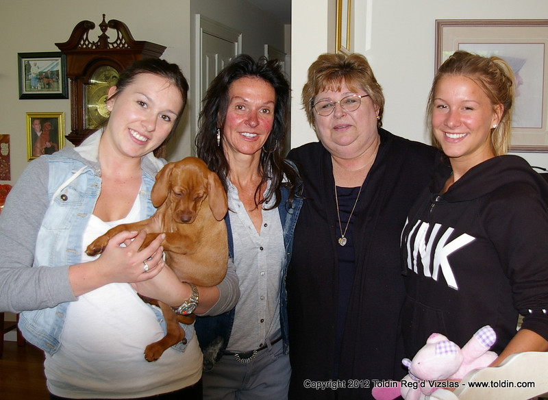 Cayenne is going to have a great life with all these great women looking after her!