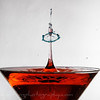 Martini glass red drop