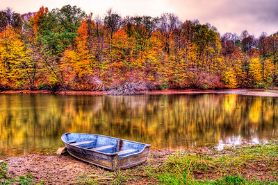 Lonely boat at Eagle Creek