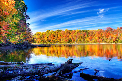 Fall at Eagle Creek Reservoir