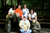Starting from the left, that's Cara, Laura, Dianne, and Carmen.  I'm the big primate sitting down (the one in the MIDDLE!).