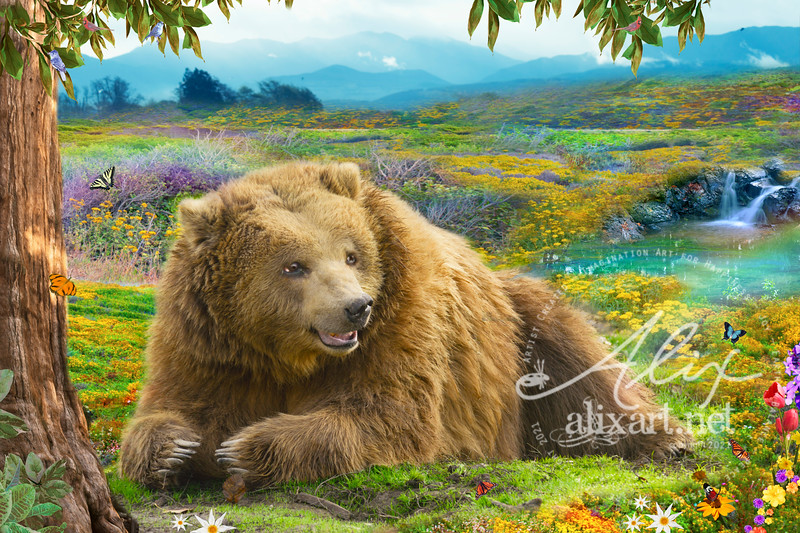 Cascadian Flower Bear  - Variation 2