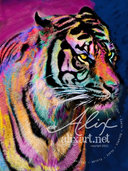 Colored Tiger