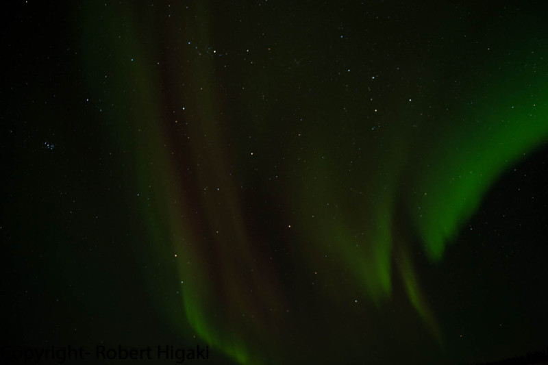 Aurora Borealis<br /> I did this only for one night because I was too lazy to go out anymore. Bad enough to freeze in the day, why should I torture myself freezing at night