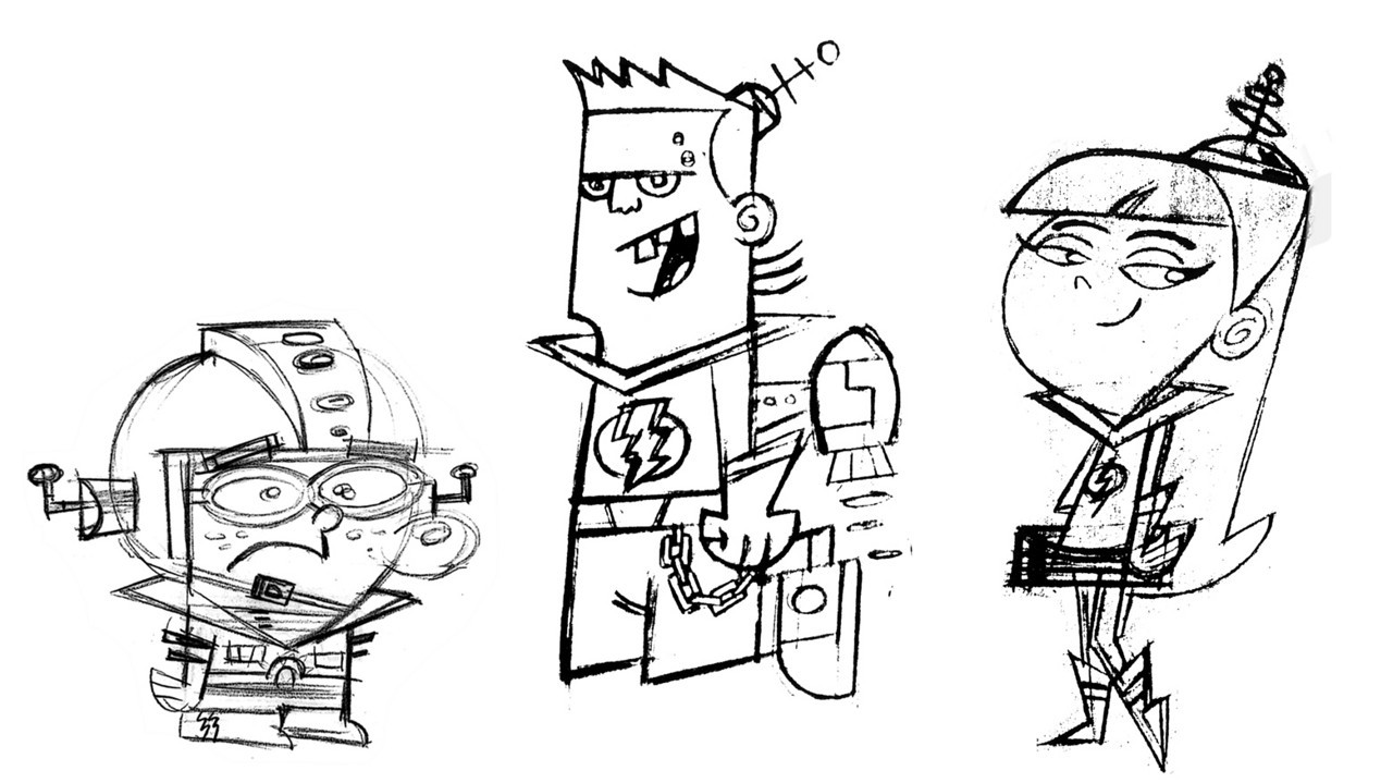 Client: Nickelodeon Show: Fairly OddParents Episode: Future Lost © Nickelodeon Character supervisor: Gordon Hammond Art director: Ernie Gilbert