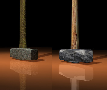 Sledge Hammer maya model & texture Graphic novel element