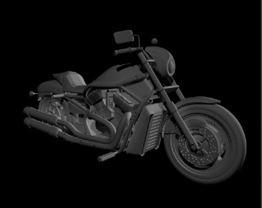 3d motorcycle model Software: Maya