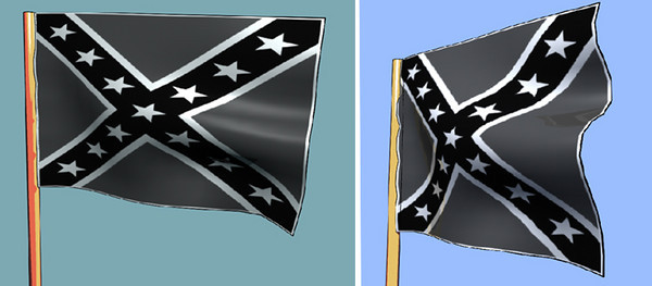 Rebel Flag maya model & texture Graphic novel element