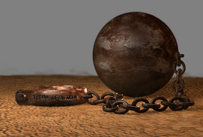 Ball n Chain maya model & texture Graphic novel element