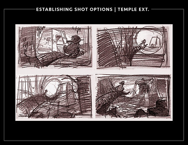 Exterior shot options of mayan temple