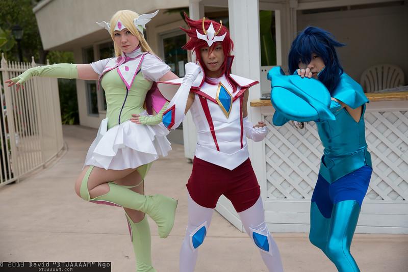 Aquila Yuna, Pegasus Koga, and Dragon Ryuho