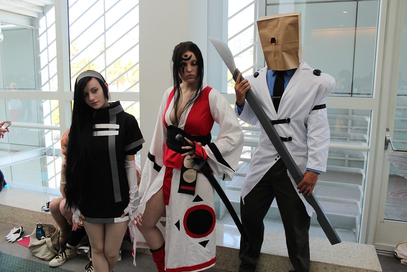 Millia Rage, Baiken Seishino, and Faust