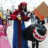 Wario, Princess Peach, Mario, and Bullet Bill