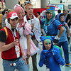 Ash Ketchum, Nurse Joy, Professor Oak, Bulbasaur, and Officer Jenny