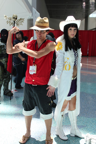 Monkey D. Luffy and Nico Robin