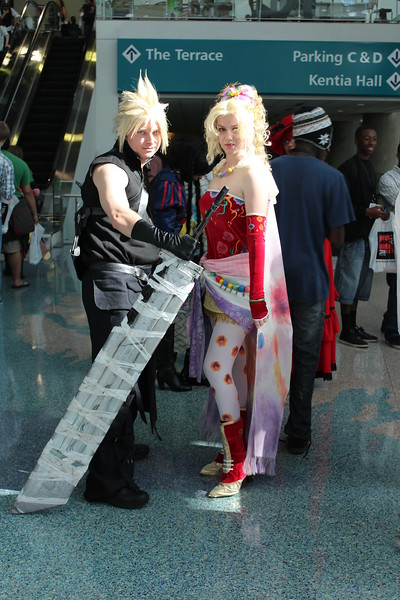 Cloud Strife and Terra Branford
