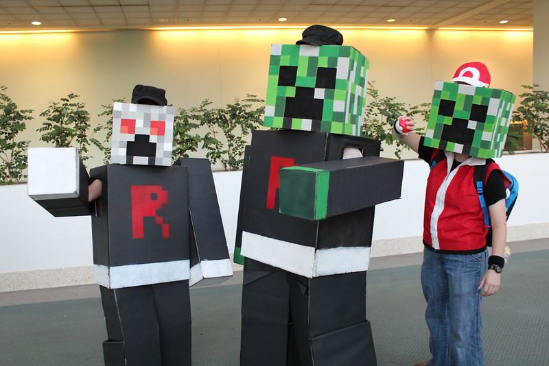 Minecraft Rocket Grunts and Ash Ketchum