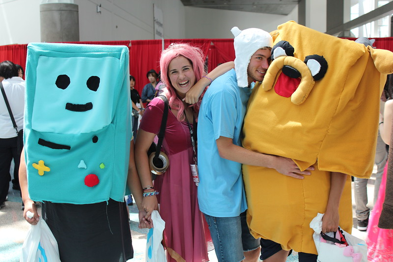 BMO, Princess Bonnibelle Bubblegum, Finn, and Jake