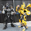 Barricade and Bumblebee